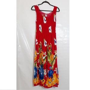 Hawaiian Smocked Dress Women's One Size Fits All